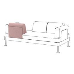 DELAKTIG - Sandaran punggung dg bantal kursi, Gunnared cokelat muda-merah muda