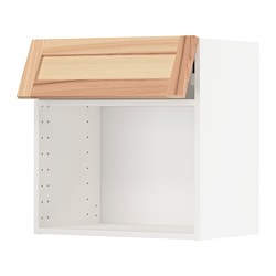 METOD - Wall cabinet for microwave oven, white/Torhamn ash