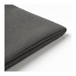 FRÖSÖN - Cover for chair cushion, outdoor dark grey
