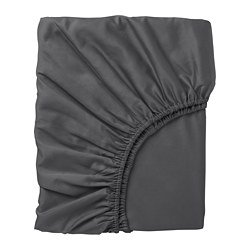 NATTJASMIN - Fitted sheet, dark grey