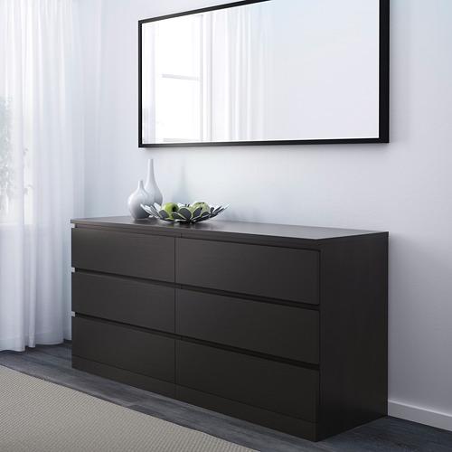MALM - lemari 6 laci, hitam-cokelat, 160x78 cm | IKEA Indonesia - PE624328_S4