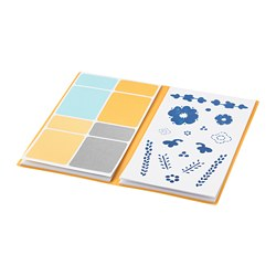 ANILINARE - Folder with stickers, white/blue
