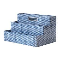 FJÄLLA - Desk organiser, white/blue