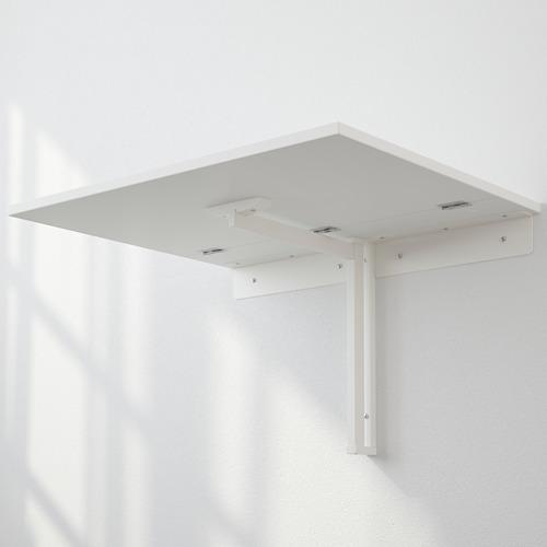 NORBERG - daun meja lipat dipasang di dinding, putih, 74x60 cm | IKEA Indonesia - PE593526_S4