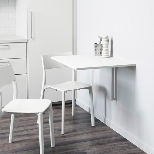 NORBERG - daun meja lipat dipasang di dinding, putih, 74x60 cm | IKEA Indonesia - PE614167_S4