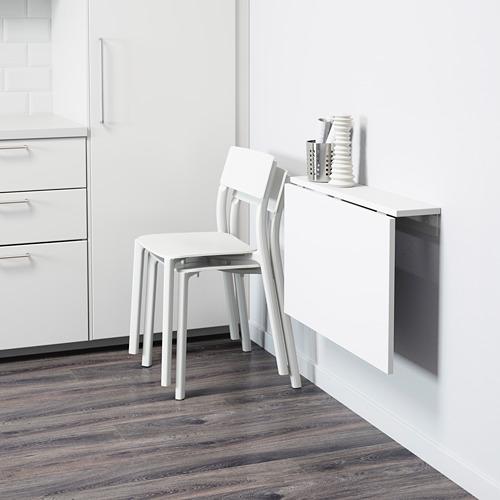 NORBERG - daun meja lipat dipasang di dinding, putih, 74x60 cm | IKEA Indonesia - PE614174_S4