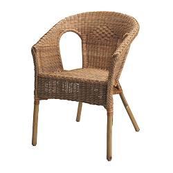 AGEN - Kursi, rotan/bambu