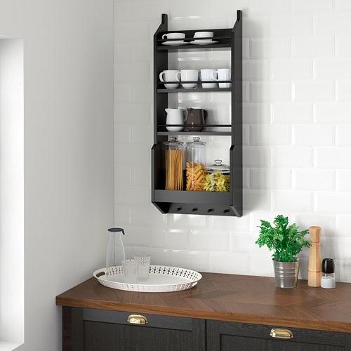 VADHOLMA - wall shelf, black   IKEA Indonesia - PE683522_S4