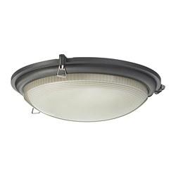 BOGSPRÖT - LED ceiling lamp, anthracite