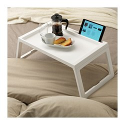 KLIPSK - Bed tray, white