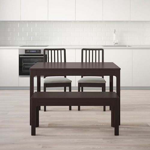 EKEDALEN/EKEDALEN meja dengan 2 kursi dan bangku