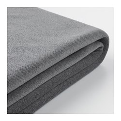 GRÖNLID - Sarung sofa 4 dudukan, dengan chaise longue/Ljungen abu-abu medium