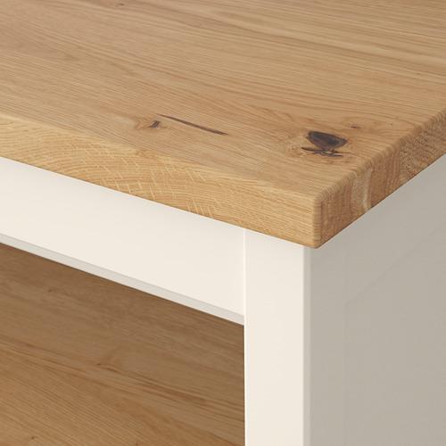 TORNVIKEN - meja tengah dapur, putih pudar/kayu oak, 126x77 cm | IKEA Indonesia - PE684549_S4