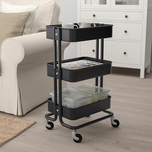 RÅSKOG - trolley, black, 35x45x78 cm | IKEA Indonesia - PE687702_S4
