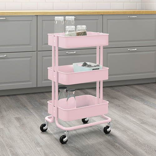RÅSKOG - troli, merah muda terang, 35x45x78 cm   IKEA Indonesia - PE714015_S4
