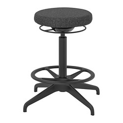 LIDKULLEN - Active sit/stand support, Gunnared dark grey