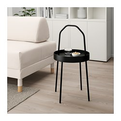 BURVIK - Side table, black