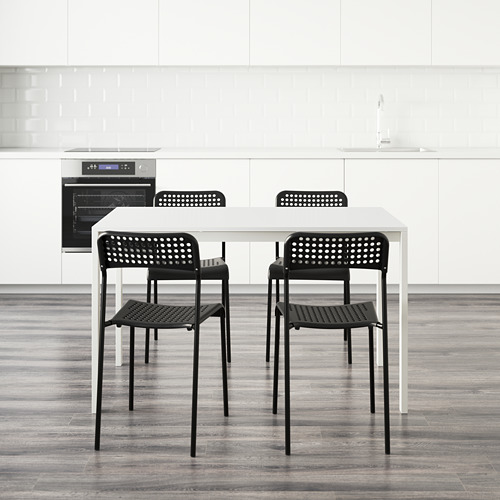 MELLTORP/ADDE meja dan 4 kursi
