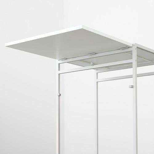 MUDDUS - meja dengan daun meja lipat, putih, 48/92x60 cm | IKEA Indonesia - PE596029_S4