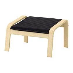 POÄNG - Bangku kaki, veneer kayu birch/Knisa hitam