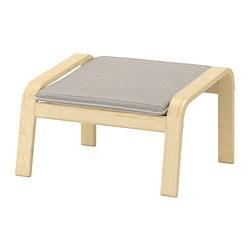 POÄNG - Bangku kaki, veneer kayu birch/Knisa krem muda
