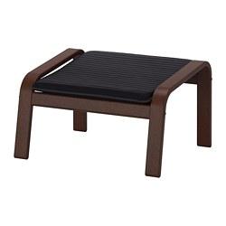 POÄNG - Bangku kaki, cokelat/Knisa hitam