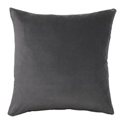 SANELA - Cushion cover, dark grey