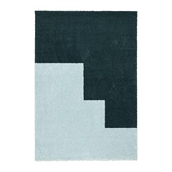 KONGSTRUP - Rug, high pile, light blue/green