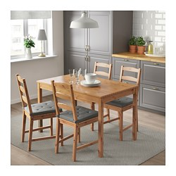 JOKKMOKK - Table and 4 chairs, antique stain