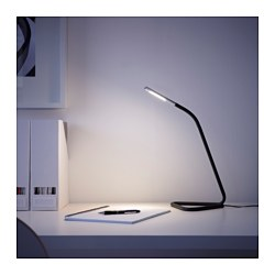 HÅRTE - LED work lamp, black/silver-colour