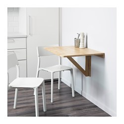 NORBO - Wall-mounted drop-leaf table, birch