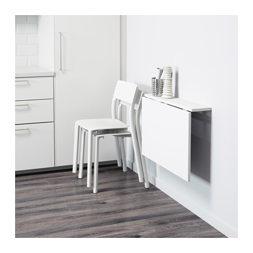 NORBERG wall-mounted drop-leaf table