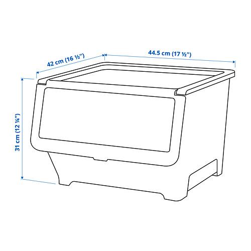 FIRRA - kotak dengan penutup, transparan, 44.5x42x31 cm   IKEA Indonesia - PE812532_S4