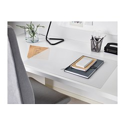 SKVALLRA - SKVALLRA, alas meja, putih/transparan, 38x58 cm