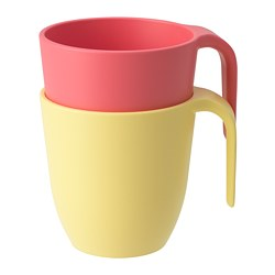 HEROISK - Mug, light red/yellow