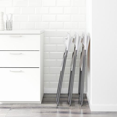 NISSE - kursi lipat, warna perak/putih | IKEA Indonesia - PE598516_S4