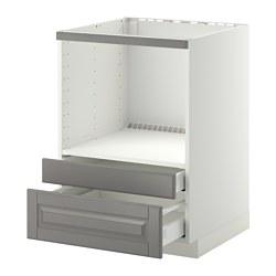 METOD/MAXIMERA - Kab dasar untuk oven/laci kombinasi, putih/Bodbyn abu-abu