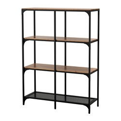 FJÄLLBO - Shelving unit, black