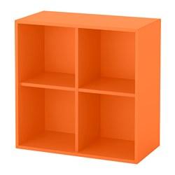 EKET - Unit rak dinding dg 4 kompartemen, oranye