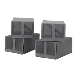 SKUBB - Shoe box, dark grey