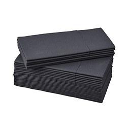 MOTTAGA - Paper napkin, black