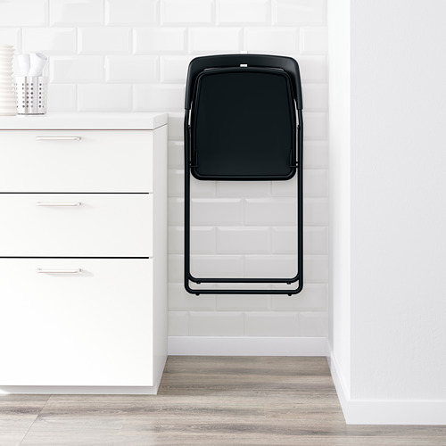 NISSE - kursi lipat, hitam | IKEA Indonesia - PE596005_S4