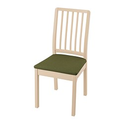 EKEDALEN - Chair, birch/Orrsta olive-green