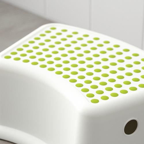 FÖRSIKTIG - bangku kecil anak, putih/hijau | IKEA Indonesia - PE613791_S4