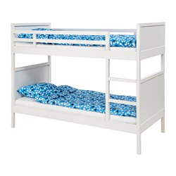 NORDDAL - Bunk bed frame, white