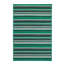 KÄRBÄK - Rug flatwoven, in/outdoor, green