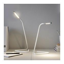 HÅRTE - Lampu kerja LED, putih/warna perak