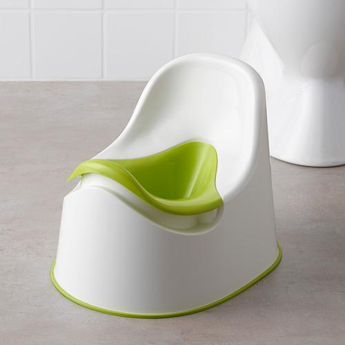 LOCKIG - toilet anak, putih/hijau | IKEA Indonesia - PE611749_S4