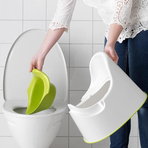 LOCKIG - toilet anak, putih/hijau | IKEA Indonesia - PE611750_S4