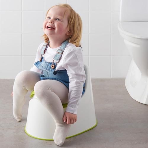 LOCKIG - toilet anak, putih/hijau | IKEA Indonesia - PE611752_S4